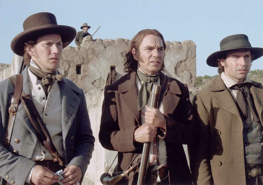 "(L to R) Lt. Col William Travis (Patrick Wilson), David Crockett (Billy Bob Thornton) and James Bowie (Jason Patrick) in the 2004 film, ""The Alamo."" Photo: Courtesy Touchstone Pictures"
