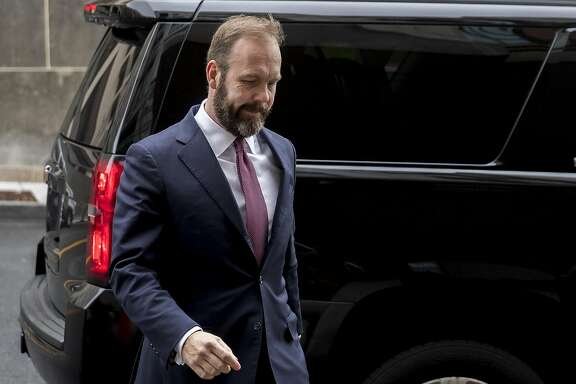 Rick Gates, former deputy campaign manager for Donald Trump, arrives at Federal Court in Washington, D.C., U.S., on Friday, Feb. 23, 2018. Special Counsel Robert Mueller filed conspiracy and false-statement counts against Gates, adding a third set of charges just as a person familiar with the matter said that Gates was close to entering a guilty plea. Photographer: Andrew Harrer/Bloomberg