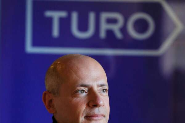 Turo CEO Andre Haddad stands for a portrait at the Turo headquarters in San Francisco, Calif., on Friday, February 23, 2018.