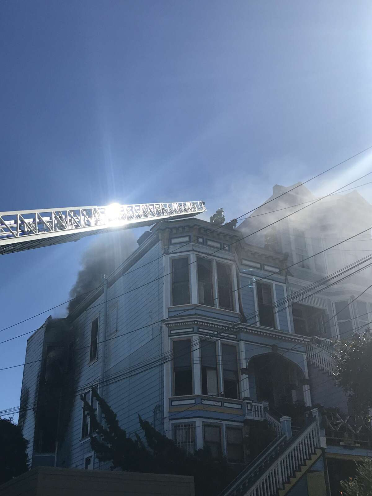 The San Francisco Fire Department responded to a fire near the area of 18th and Sanchez streets Friday morning.