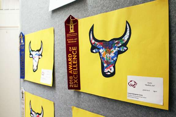 Crosby ISD held its first annual Special Education Rodeo Art Exhibition on Thursday in the district's administration building.  Special needs students from all over Crosby ISD participated in the exhibit. The exhibit is rodeo themed to celebrate the district's recent rodeo show.  Representatives from the Houston Livestock Show and Rodeo judged all artwork and placed either a red, blue or white ribbon on winning pieces. Everyone who participated in the exhibit also received a certificate from the Houston Livestock Show and Rodeo.