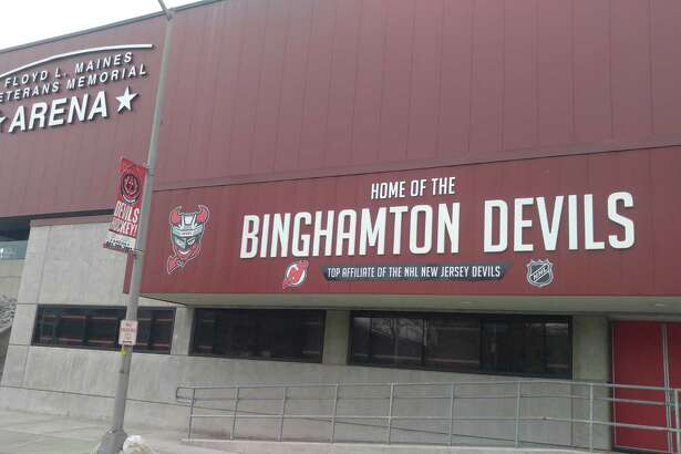 Floyd L. Maines Veterans Memorial Arena, home of the American Hockey League's Binghamton Devils. (Pete Dougherty/Times Union)