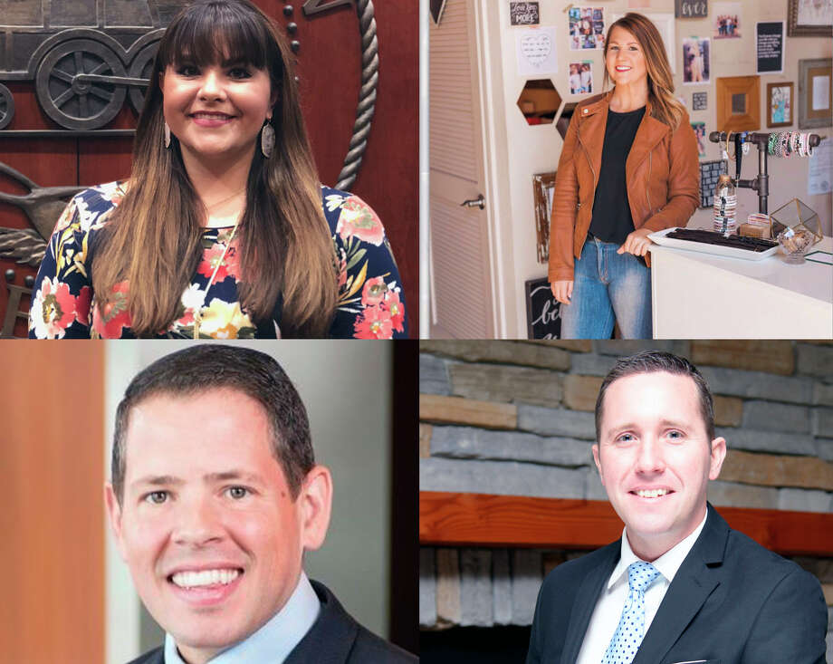 Jessica Beemer, chief of staff for Houston City Council Member Dave Martin's office; Nikole Davis owner of Pretty Little Things Boutique; Trey Hill, financial advisor with Edward Jones Investments; and Jason Stuebe, city manager of the city of Humble were named as the 2018 4 Under 40 and will be honored during the inaugural Lake Houston Young Entrepreneurs and Professionals (YEP) Awards ceremony March 8 at The Overlook in Atascocita. Photo: Courtesy Of The Lake Houston Area Chamber Of Commerce