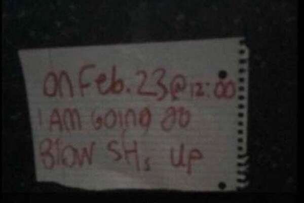 A threat to blow up Stamford High School on Friday was circulated on social media. Stamford police declined to confirm if this was the same threat posted in a school bathroom that they were investigating.