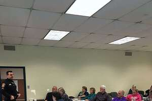 Several members of faith organizations in Milford, Conn., learned how to better prepare their buildings to deter active shooters from targeting them on Feb. 20, 2018.