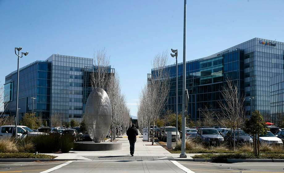 Google's Moffett Place campus in Sunnyvale, where Alphabet owns or leases 4 percent of the available office space. Photo: Paul Chinn, The Chronicle