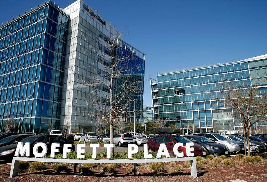 Google's Moffett Place campus has several office buildings on Bordeaux Drive in Sunnyvale, where it owns or leases 4 percent of available office space. Photo: Paul Chinn, The Chronicle