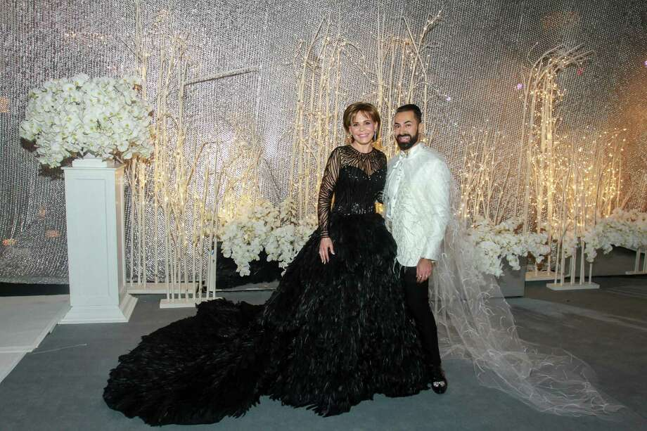 "Chair Hallie Vanderhider, pictured here with Fady Armanious, opted to move Houston Ballet Ball into a tent near the dance company's headquarters downtown - the gamble paid off. The ""Swan Lake"" soiree raised a record $1.4 million. Photo: Gary Fountain, For The Chronicle / Copyright 2018 Gary Fountain"
