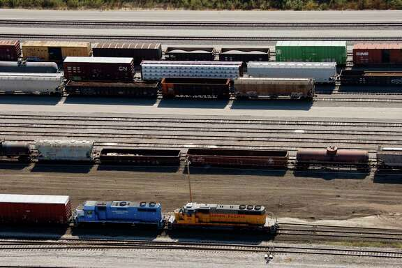 The Union Pacific Railroad yard in Fort Worth in 2007. There are more miles of track in Texas than anywhere else in the country. Keeping them safe requires collaboration from the industry and first responders.
