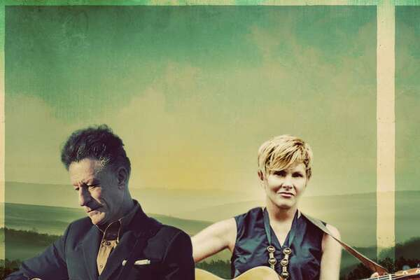 Lyle Lovett and Shawn Colvin perform at The Warner Theatre in Torrington on March 2.