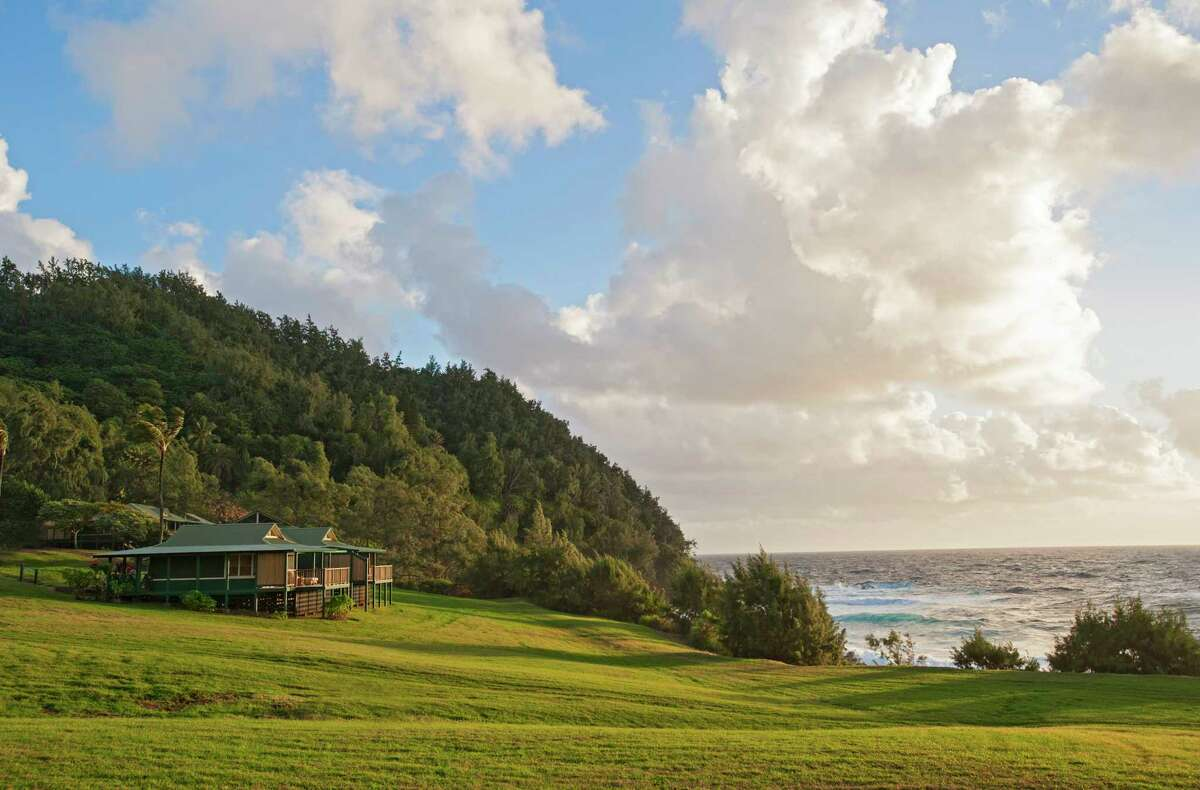 Travaasa Hana on Maui has oceanfront bungalows so you can fall asleep to the sound of waves.