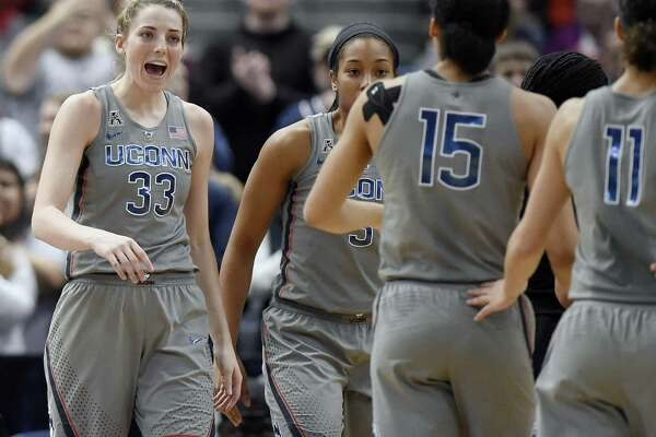 UConn's Katie Lou Samuelson, left, continues to prove there is more to her game than just 3-point shooting.