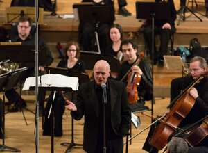 James Sinclair conducts Orchestra New England.