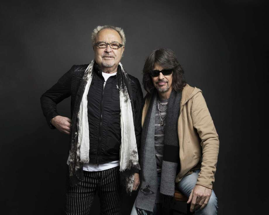 Kelly Hansen, right, and Mick Jones of Foreigner pose for a portrait during the Sundance Film Festival in 2017. Photo: Taylor Jewell / Invision/AP / 2017 Invision