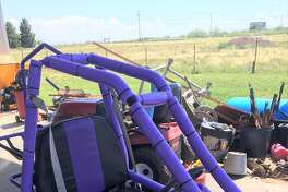 A gray 2018 Texa car hauler was stolen, and loaded on the trailer was a Red 2014 Kawasaki UTV and a purple go-cart. The property was last seen hours before being stolen. The items are valued at more than $30,000.
