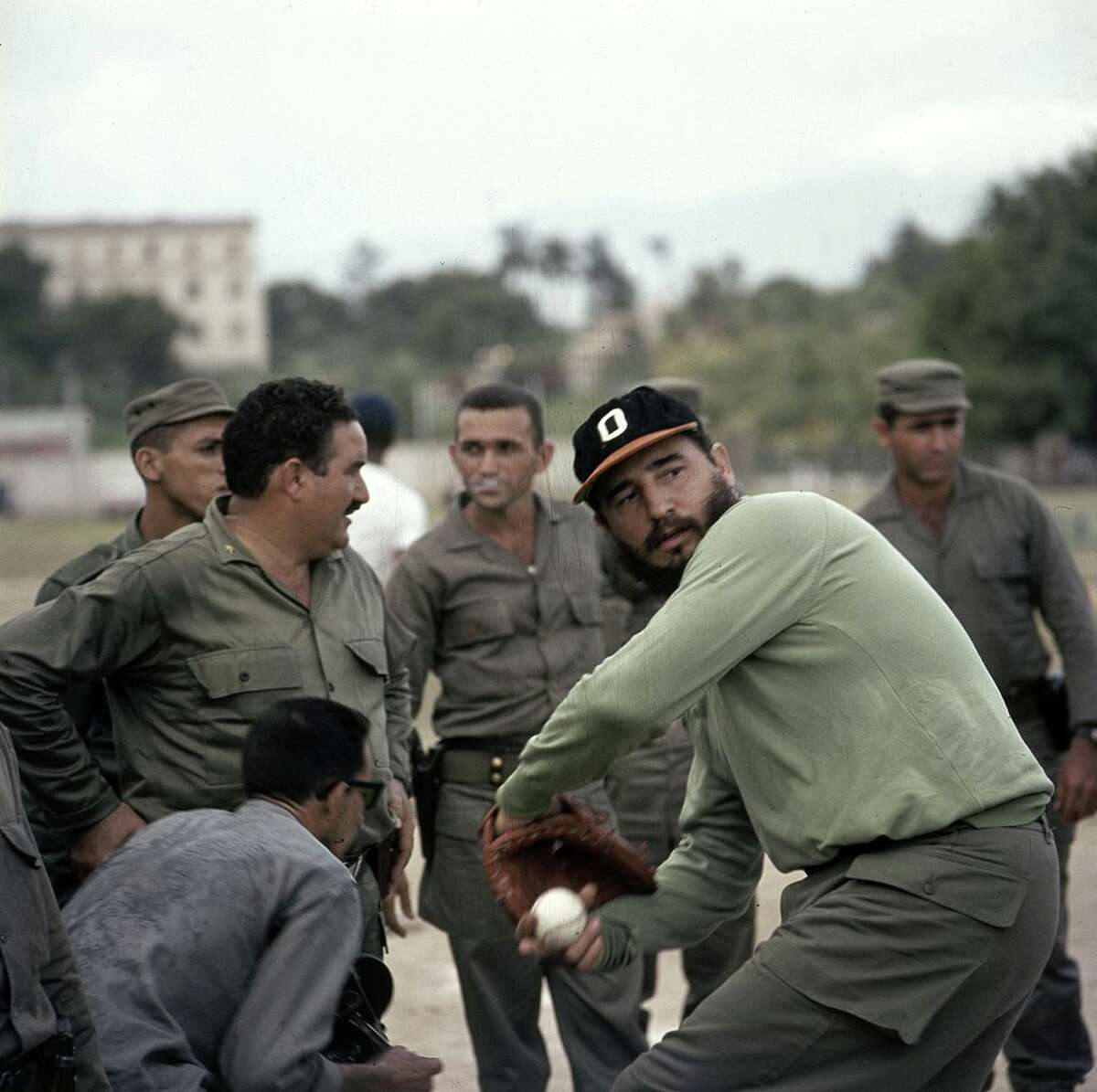 Fidel Castro, a noted baseball fan and person who is not alive, was shown in the montage as well.