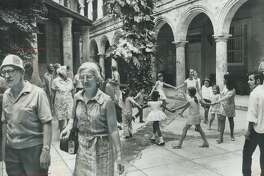 Adian Tourists in Cuba; seen passing a school in old Havana; are part of a test program by the government; which wants visitors but is determined that Havana will not become the brothel of the Americas as it was in the days before Castro.