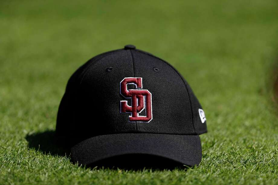 A Stoneman Douglas Eagles baseball hat, worn by all of the MLB teams before the start of the Houston Astros spring training game against the Nationals at The Fitteam Ballpark of the Palm Beaches, Friday, Feb. 23, 2018, in West Palm Beach. Photo: Karen Warren, Houston Chronicle / © 2018 Houston Chronicle