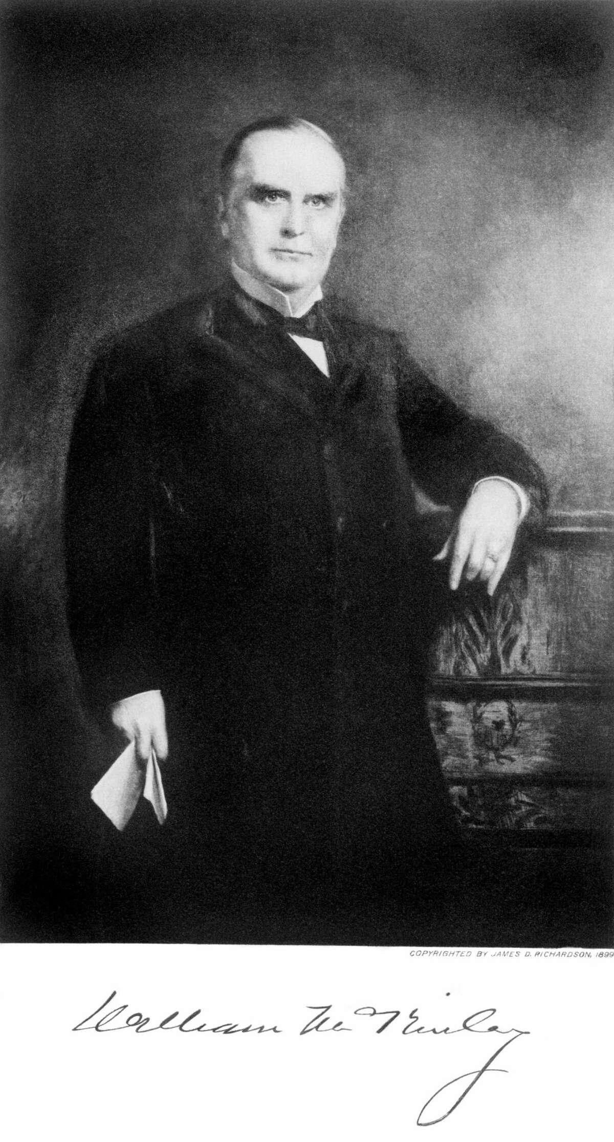 1890s-era portrait of 25th U.S. president William McKinley.