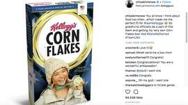 Chloe Kim's limited-edition Corn Flakes box sold out in seven hours, a new record for the Kellogg Company.