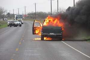According to a U.S. Border Patrol news release, a man set his own vehicle on fire, Tuesday Feb. 20, 2018, while trying to evade agents and Texas Department of Safety troopers.