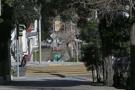 Looking down Masonic Street to the beginning of the 1500 block of Page St. (yellow crosswalk) on Thursday, February 22, 2018, in San Francisco, Calif.