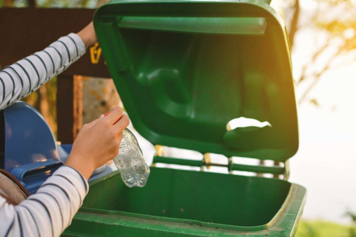 Not the green bin! That's for composting. Use the blue bin. Correct sorting of recycling materials, trash and compost is critical to Recology's Zero Waste mission in San Francisco. Here's what else you can do to help the effort.