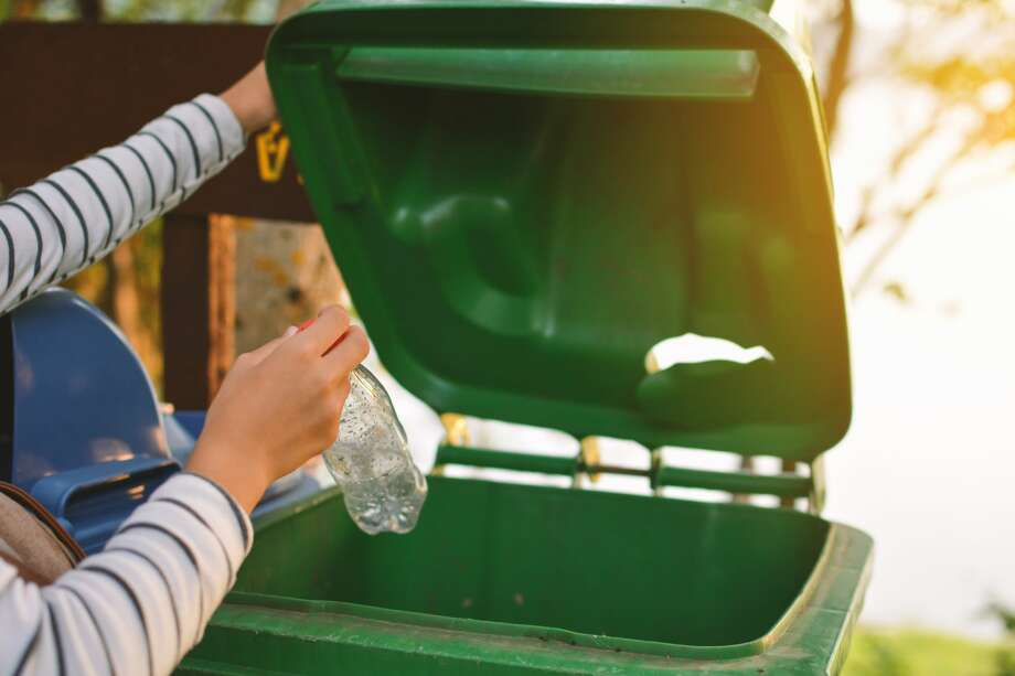 Not the green bin! That's for composting. Use the blue bin. Correct sorting of recycling materials, trash and compost is critical to Recology's Zero Waste mission in San Francisco. Here's what else you can do to help the effort. Photo: Sawitree Pamee / EyeEm/Getty Images/EyeEm