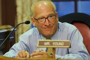 Stratford Town Council member Phil Young during the group's budget deliberations at Town Hall in Stratford, Conn. on Monday, June 12, 2017.