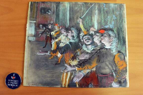 """The Chorus Singers,"" an 1877 painting by Edgar Degas, was found eight years after its theft."