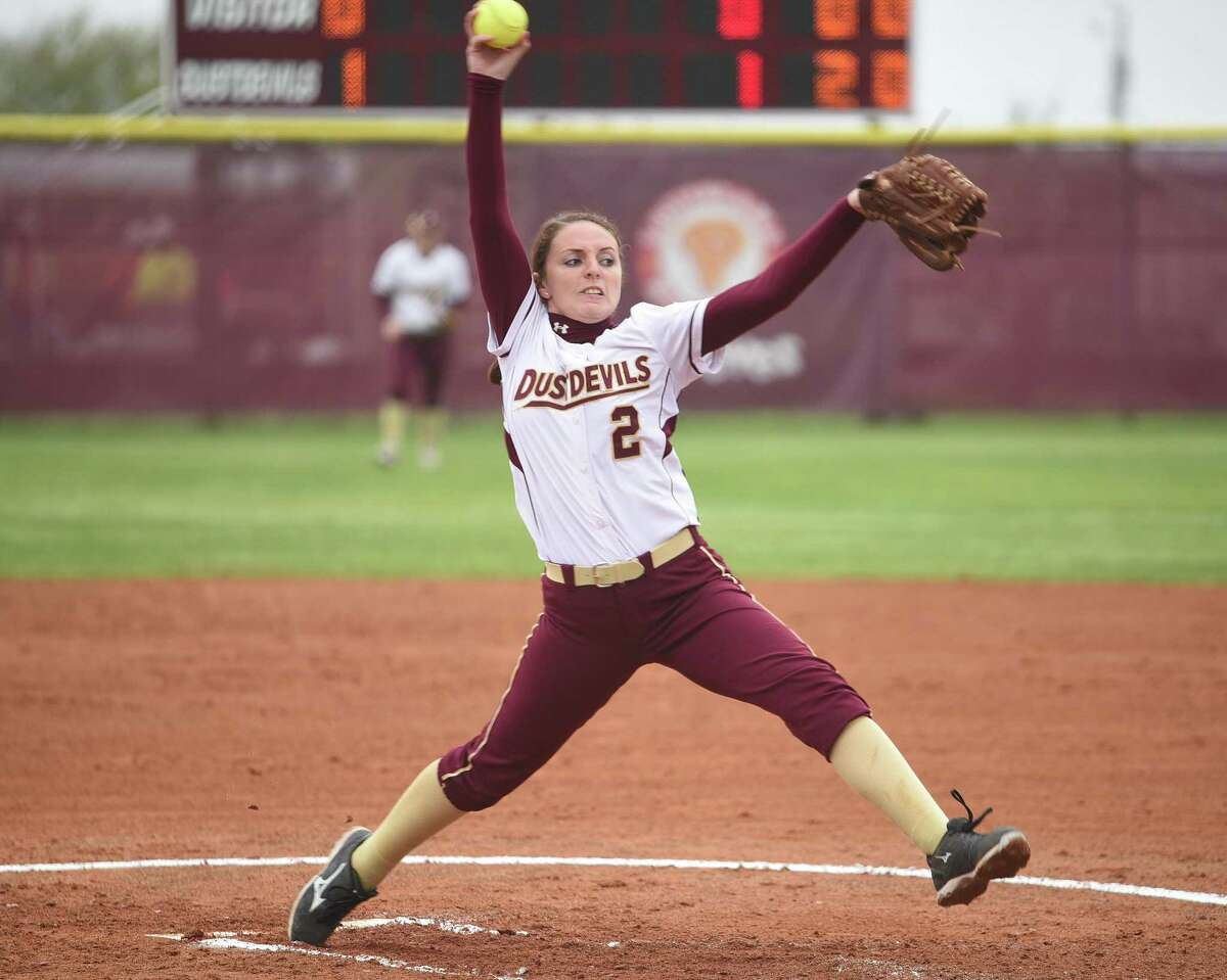 TAMIU pitcher Delainy Thompson recorded the first no-hitter in program history Tuesday in a 1-0 victory over Lubbock Christian. The Lady Chaps won 6-0 in Game 1.