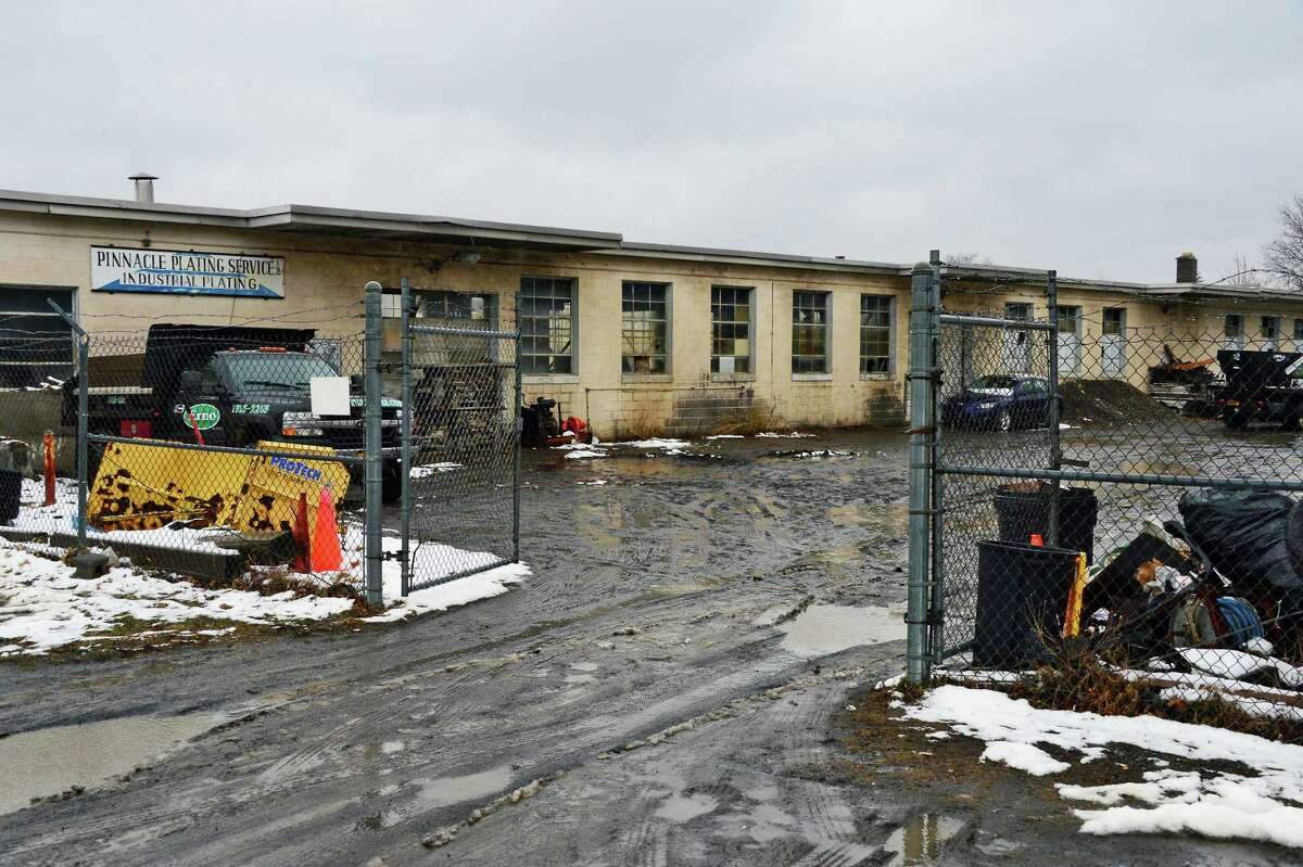 The former Pinnacle Plating Service on 11th Street Friday Feb. 23, 2018 in Watervliet, NY. (John Carl D'Annibale/Times Union)