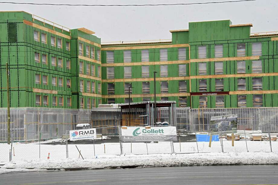 Construction Continues On Homewood Suites By Hilton In Front Of Crossgates Mall Friday Feb