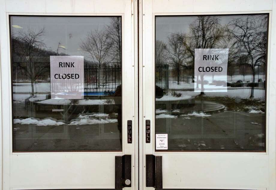 The ice rink is closed at the Knickerbacker Arena for repairs Friday Feb. 23, 2018 in Troy, NY.  (John Carl D'Annibale/Times Union) Photo: John Carl D'Annibale / 20043025A
