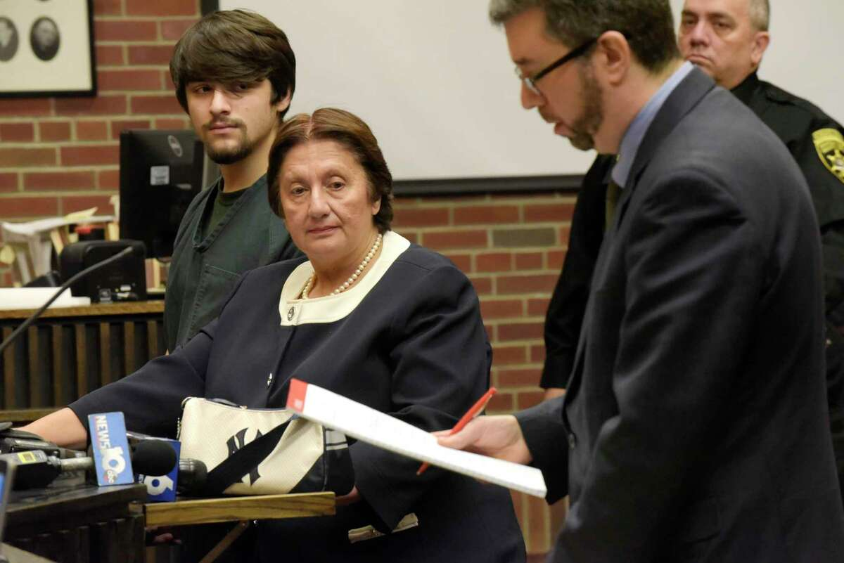 Nikolai Mavashev, left, and his attorney, Cheryl Coleman seen here at Mavashev's arraignment in Saratoga County Court on Monday, Nov. 20, 2017, in Ballston Spa, N.Y. Also pictured is Saratoga County Assistant District Attorney, Charles Bucca, far right. (Paul Buckowski / Times Union)