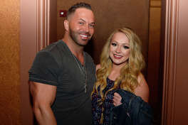 Josh Harwell and Helen Goebel at Travis Tritt's performance at the Jefferson Theater on Friday night.  Photo taken Friday 2/23/18 Ryan Pelham/The Enterprise