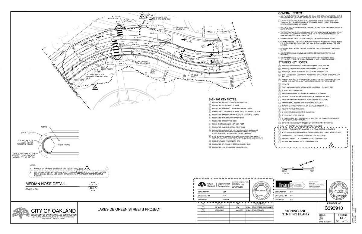 Plans for changes to bike lanes around Lake Merritt.