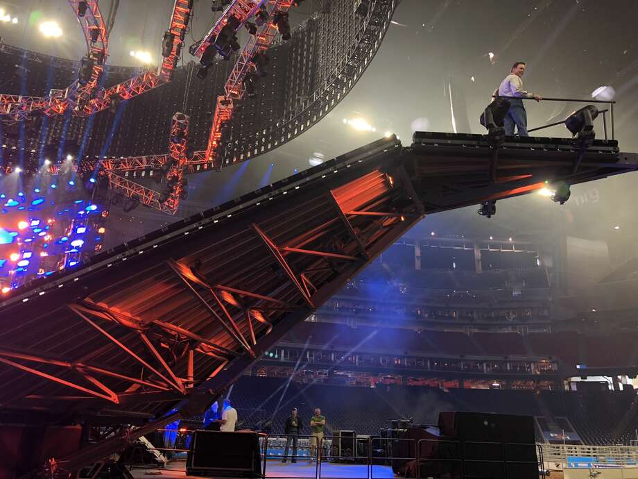 The new RodeoHouston concert stage for 2018 includes more lights and rising star points. Photo: Joey Guerra