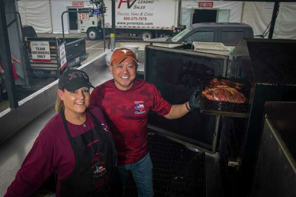 Lisa Vuong won't be working the pit at the rodeo's barbecue cook-off but will be making sides with her husband, Phong, and their team.