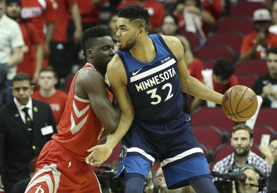 The Rockets swept this year's season series against Karl-Anthony Towns and the Timberwolves, who haven't made the postseason since 2004. Photo: YCL/Houston Chronicle