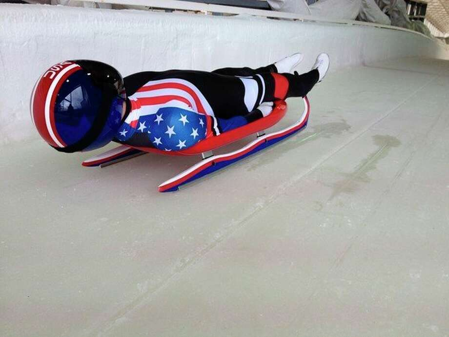 Athletes travel at speeds approaching 90 mph in the Olympiclugecompetition.(Photo provided)