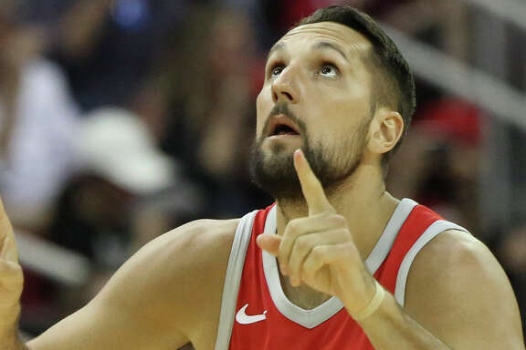 Houston Rockets forward Ryan Anderson (33) celebrates his three-pointer during the third quarter of the NBA game against the Minnesota Timberwolves at Toyota Center on Friday, Feb. 23, 2018, in Houston. The Houston Rockets defeated the Minnesota Timberwolves 120-102. ( Yi-Chin Lee / Houston Chronicle )