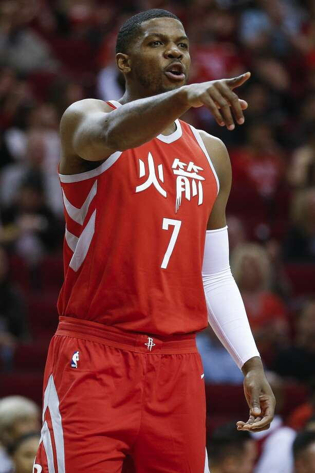 Houston Rockets guard Joe Johnson (7) enters the game for the first time as the Houston Rockets take on the Sacramento Kings at the Toyota Center Wednesday, Feb. 14, 2018 in Houston. (Michael Ciaglo / Houston Chronicle) Photo: Michael Ciaglo/Houston Chronicle