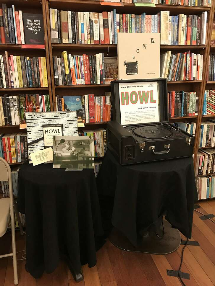 """""""Howl and Other Poems,"""" a new vinyl box set, on display at City Lights in San Francisco."""