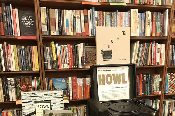 """Howl and Other Poems,"" a new vinyl box set, on display at City Lights in San Francisco."