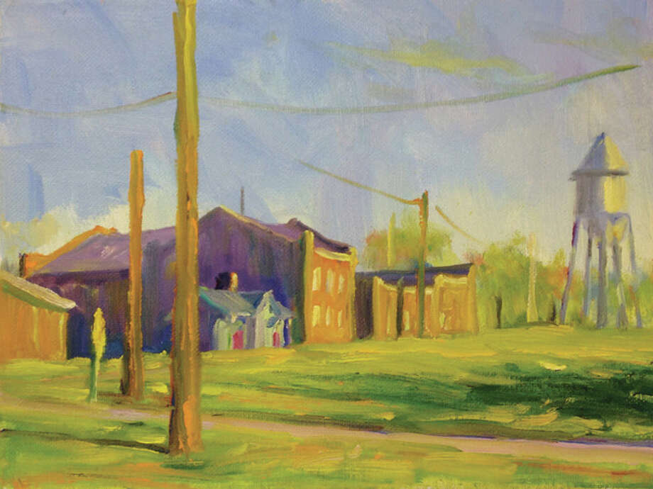 A painting by SIUE professor John DenHouter. Photo: For The Intelligencer