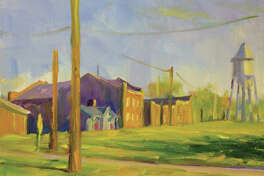 A painting by SIUE professor John DenHouter.