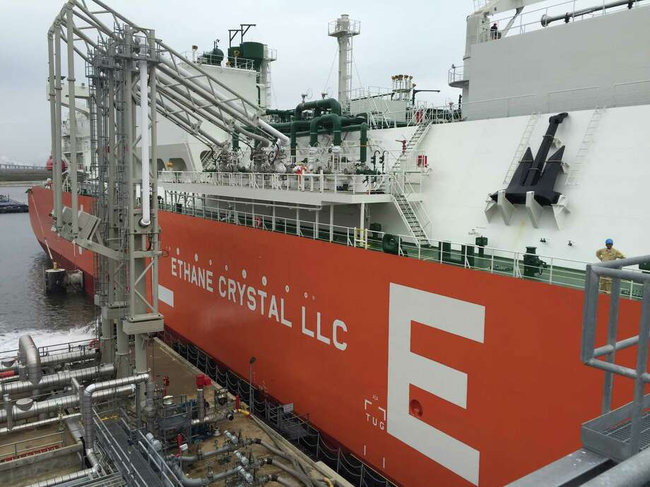 This file photo shows the Ethane Crystal, the world's first vessel classified as a Very Large Ethane Carrier,  that made its first trip out of Enterprise Products Partners Morgan's Point Terminal in 2018 en route to India. Enterprise is also expanding its ethylene export capacity at Morgan Point and announced May 28 that it plans to build a new ethylene pipeline with access to Morgan Point and the Mont Belvieu petrochemical hub. Photo: American Bureau Of Shipping