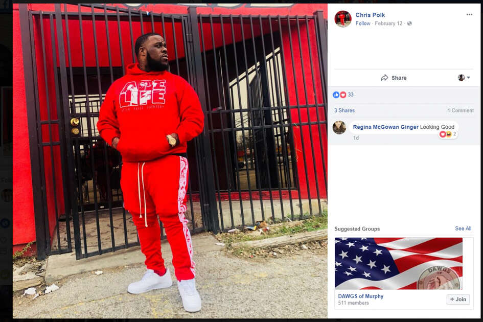 The Facebook profile picture of local rap artist Christopher Polk, who was killed Saturday, Feb. 24, 2018.