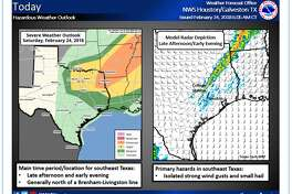 Houston is in for some hazardous weather, and possible hail as a cold front pushed through the area overnight into Sunday.
